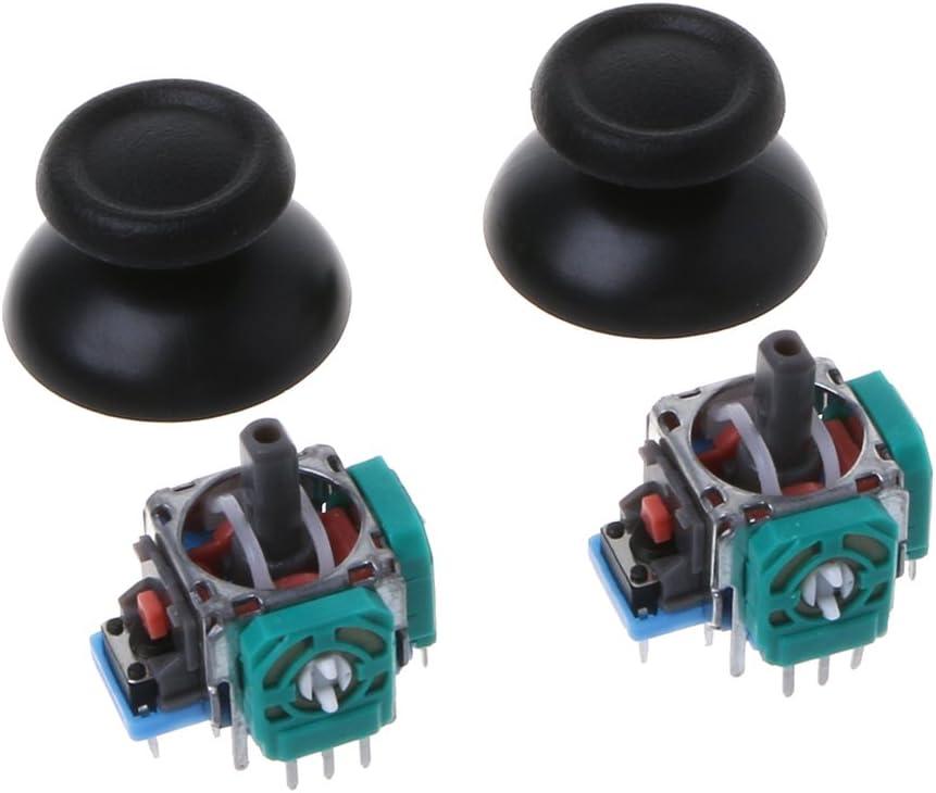Gwxevce 2 Pcs Joystick Axis Analog Sensor Module Thumbstick pour PS4 Pro Slim Controller