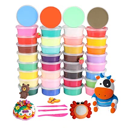 Amazon Com 36 Colors Air Dry Clay Modeling Clay Moulding Craft