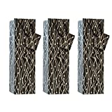 C.W. Collections Handcrafted Artisan Wine Bottle Gift Bag (3 Pack), Wavy Lines, Black/Silver