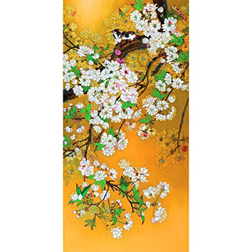 Meishe Art Vintage Poster Print Birds Flowers Branch Plant Chinese Traditional Painting Colorful Oriental Ancient Asian Watercolor Drawing Home Wall Decor