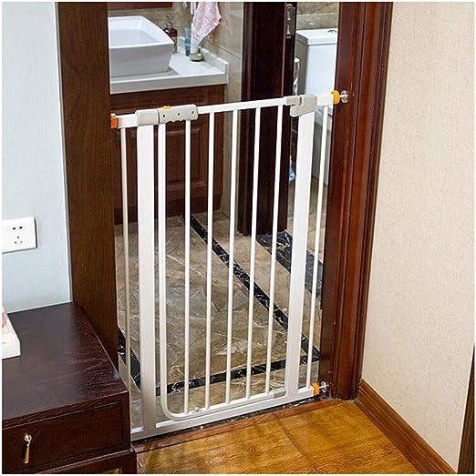 WHAIYAO Bebé Puerta De La Escalera Barrera Decorativo for El Hogar Baby Gate Puerta De Aislamiento Fijación A Presión Porche Escalera Barandillas Interior, Ajustable: Amazon.es: Hogar