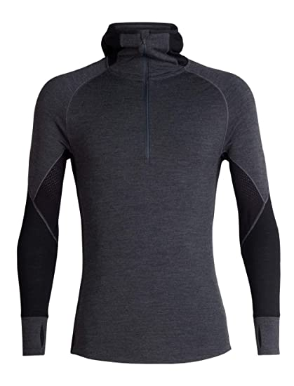 5deb25ce1e7 Amazon.com: Icebreaker Merino Men's Zone Heavyweight Base Layer Long Sleeve  Half Zip Hoodie, Merino Wool: Clothing