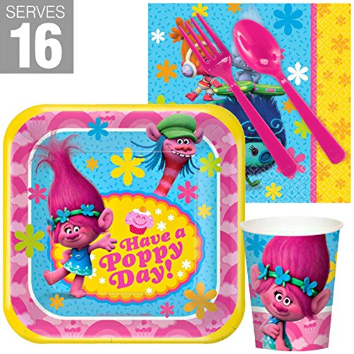 BirthdayExpress Trolls Party Supplies Snack Party Pack for 16 -
