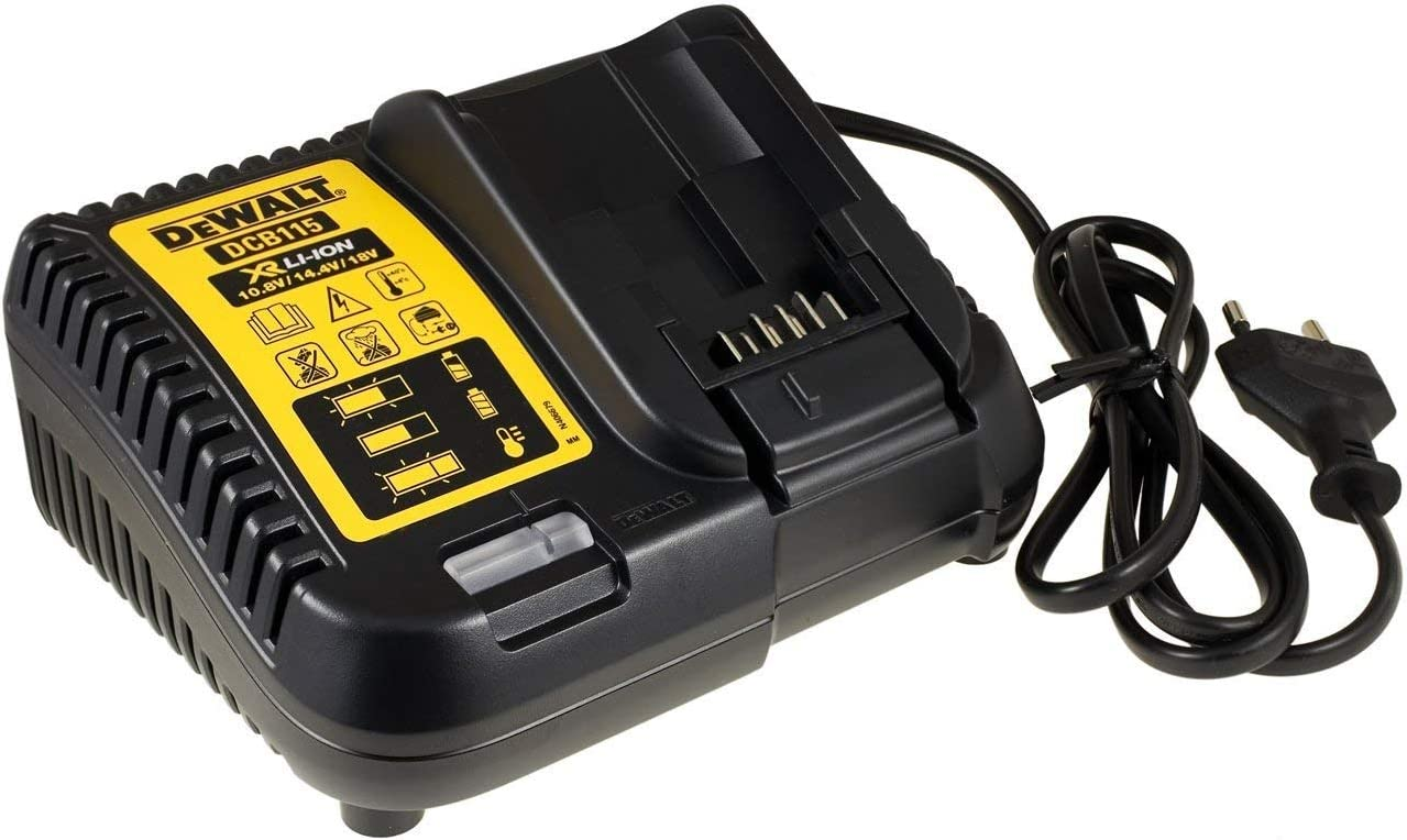 DeWalt Cargador Rápido de Batería/Cargador de batería para 10,8-18V DCB115 para Todas Las Baterías XR de Carril
