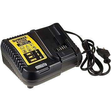Powery Dewalt Cargador Rápido de Batería/Cargador de Batería 10,8-18V DCB115 para Todas Las Baterías XR de Carril
