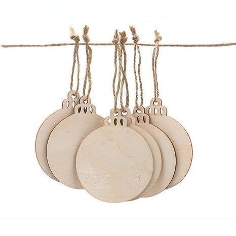 Amazon.com: Aytai - 50 bolas redondas de madera para ...