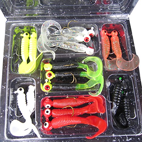 17pcs-set-fishing-lure-lead-jig-head-hook-grub-worm-soft-baits-shads-silicone-fishing-tackle