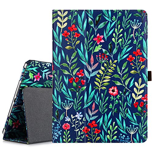iPad 9.7 2018 2017 Case GUAGUA Folio Stand Full Body PU Leather Cover with Jungle Pattern Auto Wake/Sleep Stylus Holder Protective Case for New iPad 9.7 inch 2017/2018(5th/6th Gen) Green ()