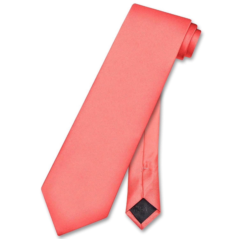 Vesuvio Napoli NeckTie Solid CORAL PINK Color Men's Neck Tie at Amazon  Men's Clothing store:
