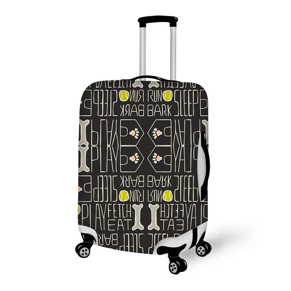 Luggage Cover Dog Life Bone Sleep Run Bark Protective Travel Trunk Case Elastic Luggage Suitcase Protector Cover