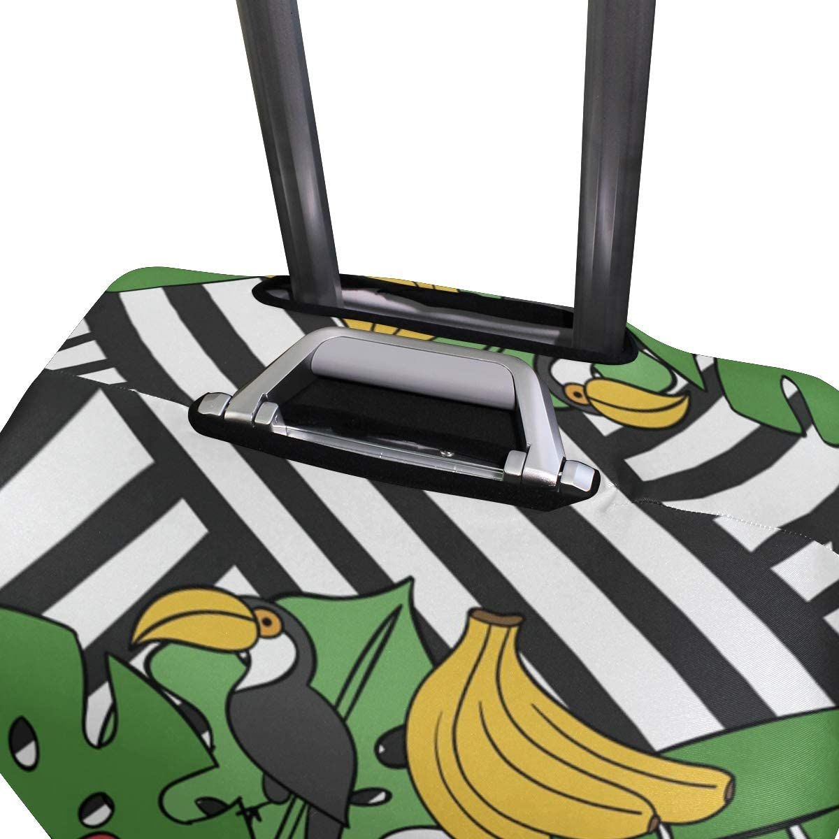 FOLPPLY Aloha Toucan Birds Banana Stripes Luggage Cover Baggage Suitcase Travel Protector Fit for 18-32 Inch