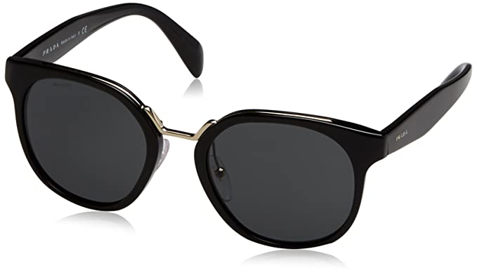 0fa1da1262 Amazon.com  Prada Women s 0PR 17TS Black Grey Sunglasses  Prada ...