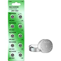 SKOANBE 10PCS LR41 392 384 192 AG3 SR41 1.5V Button Coin Cell Battery