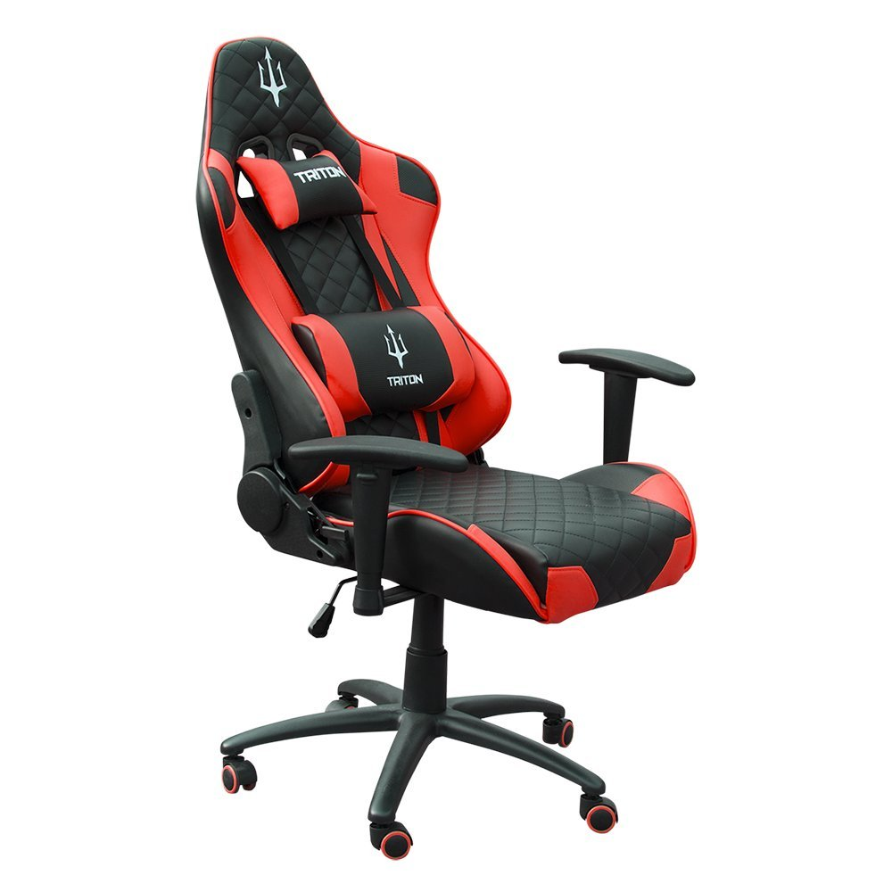 TRITON p050-x3-br Gaming Chair-sedia, Piel sintética, Negro/Rojo, 70 x 65 x 125 cm: Amazon.es: Hogar