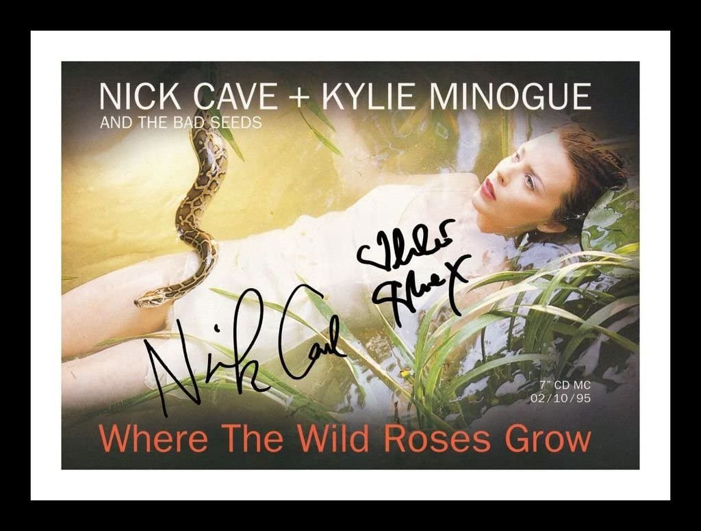 Nick Cave /& Kylie Minogue Autographed Signed And Framed 21cm x 29.7cm A4 Photo Poster