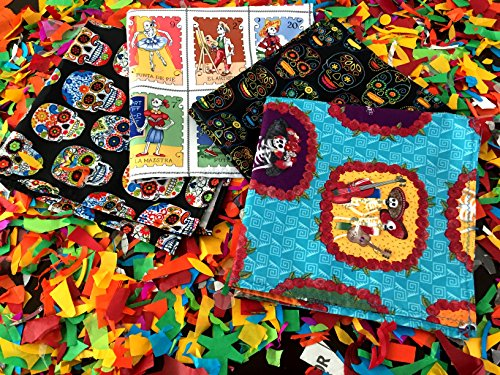 Dia de Muertos decorations, Cloth Mexican napkins, Day of the dead Set of 4, Assorted Colors, Fiesta Decor, Woven Napkins, Boho Hippie Decor, Mexican Fiesta Decorations, Gift for Her. by MexFabricSupplies