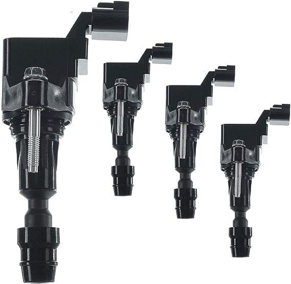 A-Premium Ignition Coils Pack For Chevrolet Malibu 2008-2014 Equinox Orlando HHR Buick Regal Verano Pontiac G5 G6 Saturn Ion Vue 4-PC Set PremiumpartsWhosale
