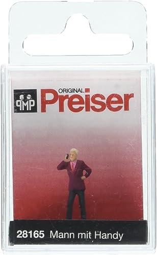 Preiser 28165 Man With Mobile Phone HO Model Figure