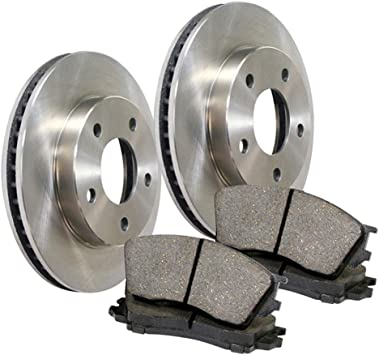 Front Coated Disc Rotors /& Semi-Metallic Brake Pads Fits Lexus IS250