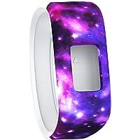 TERSELY Band Strap for Garmin Vivofit JR 3 Junior 2, Soft Silicone Rubber Wrist Strap Watch Band Bracelet for VIVOFIT 3 JR Junior 2 1 Kids Fitness Tracker - Galaxy