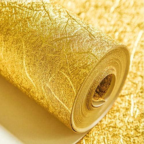 壁紙、防水KTVバーの壁紙ハイグレードホテルツーリングテレビ壁紙ゴールドフォイル壁紙ゴールドとシルバー (色 : ゴールド)