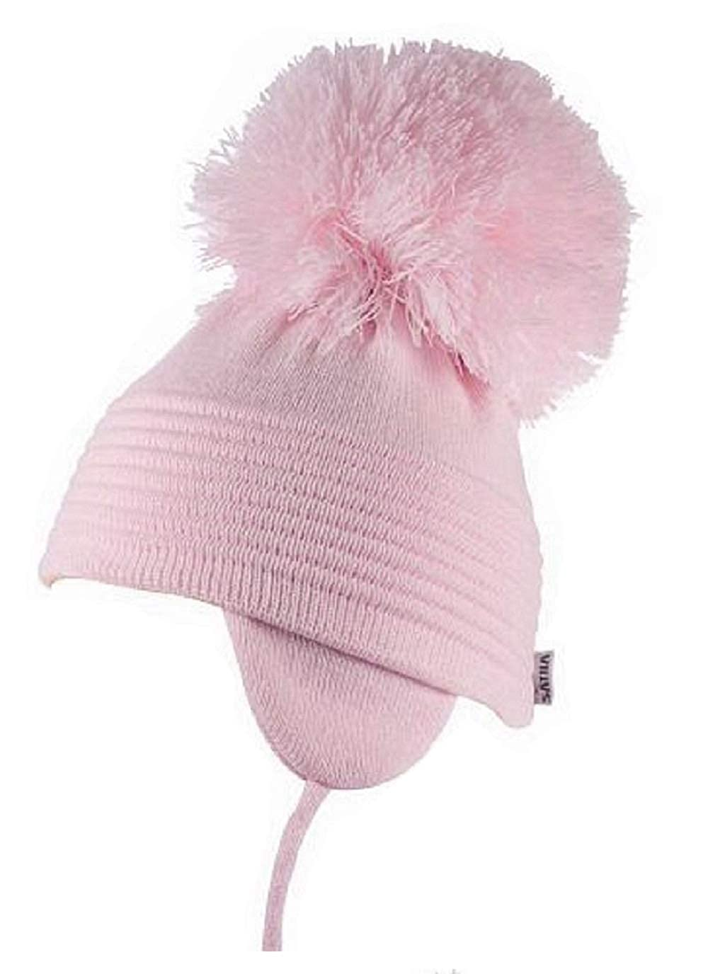 f877f057d Satila-Of-Sweden Boys Girls Large Pom Pom Hat Style 'Millie' 4 Colours to  Choose from. White, Pink, Light Blue, Cream.