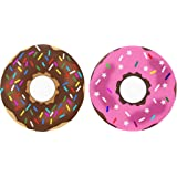 "Set 2 Sprinkle Chocolate Donuts Dessert 1.25"" Magnets"