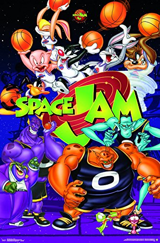 Trends International Space Jam - Collage Premium Wall Poster 22.375