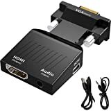 VGA to HDMI Adapter, TAIPOXUN Vga to Hdmi Video Cable Converter Male to Female with Audio, Vga to hdmi Converter Support 1080