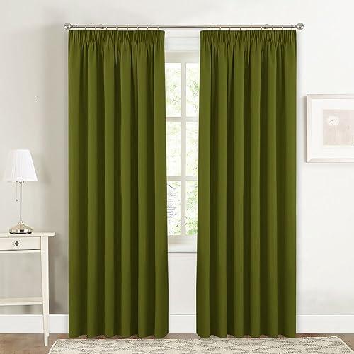Olive Green Curtains Amazon Co Uk