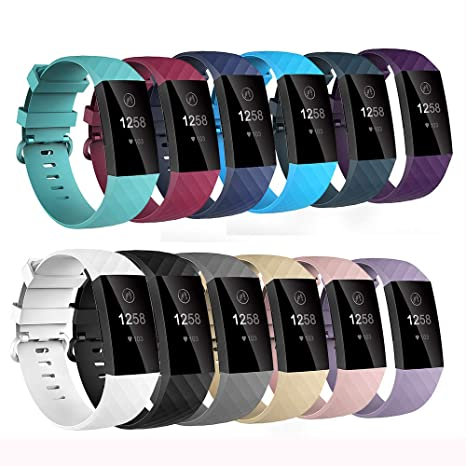 Compatible with Fitbit Charge 3/Charge3 SE Bands Strap,Comfortable Sport  Wrist Strap Wristband Bracelets Watch Accessories for Fitbit Charge  3/Charge