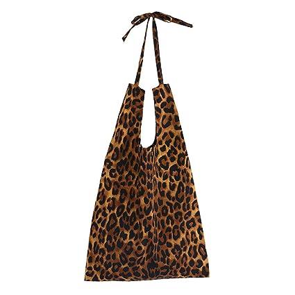 c869a848ce Dabixx Borsa a Tracolla per Donna, Borsa a Tracolla con Stampa Leopardata  Borsa a Tracolla da Viaggio Riutilizzabile in Eco Shopping - B#: Amazon.it:  Casa e ...