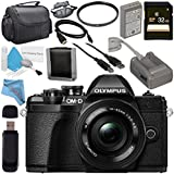 Olympus OM-D E-M10 Mark III Mirrorless Digital Camera with 14-42mm EZ Lens (Black) V207072BU010 + 37mm UV Filter + 32GB SDHC Card + Carrying Case + Micro HDMI Cable + Deluxe Cleaning Kit Bundle