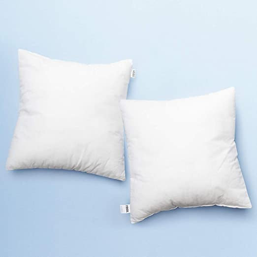20X20 Inches Cotton Down Alternative Decorative Throw Pillow Insert Set of 2 Square