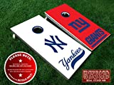 nfl quarterback board game - Match Up Rival Teams New York Yankees and New York Giants Cornhole Board Decals - COBALT - 6PC Set Fit for Bean Bag Toss Outdoor Game Sticker Set - Die Cut DIY Game Board Stickers - DECALS ONLY