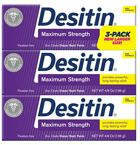Desitin Maximum Strength Zinc Oxide Diaper Rash Paste 4.8 oz. (Pack of - Desitin Diaper Original Rash Ointment