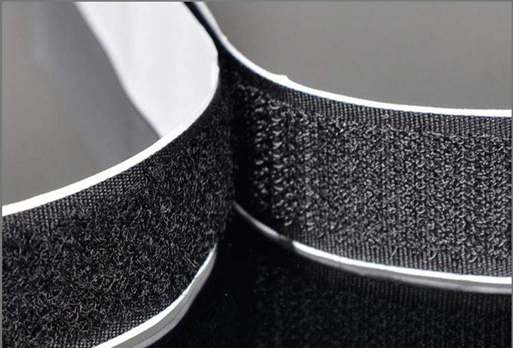 Black 5.4 Yards Heavy Duty Sticky Back Fastener Bangbuy 1.5 Inch Wide Adhesive Black Hook and Loop Tape