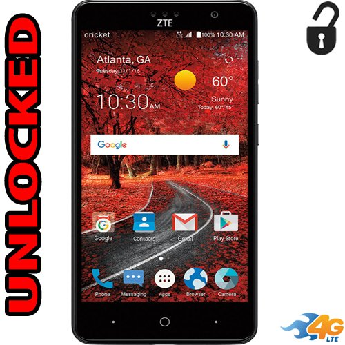 Zte Grand X4 Unlocked 4G LTE Fingerprint Reader 5.5 inch 13mp Flash 16GB Quad Core Unlocked Z956 (Zte Cell Phone)