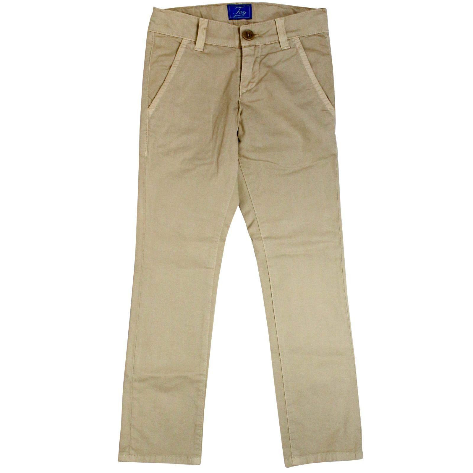 fay Boys Nui8038732tqpsc001 Beige Cotton Pants