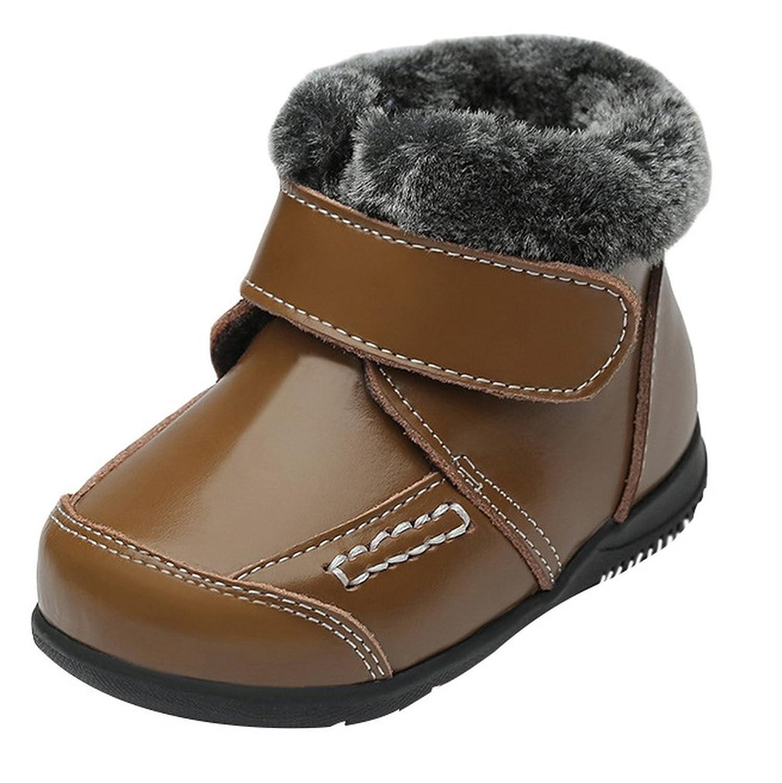 bd4fa57ac1132 La Vogue Boots Bottine Neige Ski Cuir Pu Fourré Chaude Botte Martin Chaude Hiver  Enfant Fille Garçon