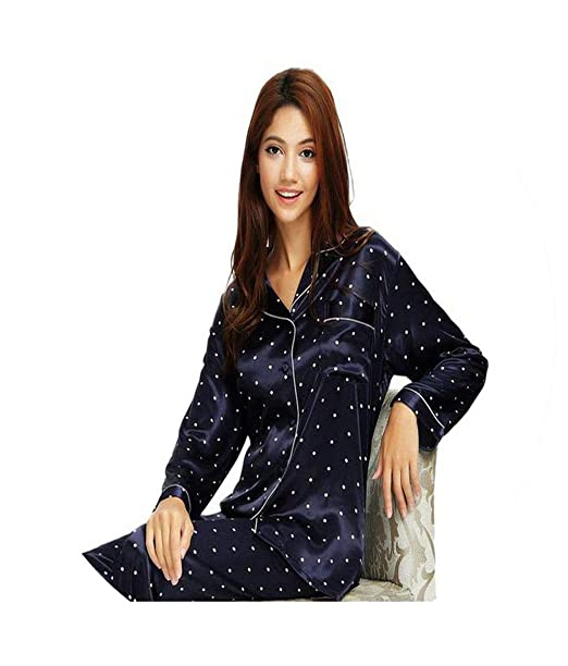 b7070bde8d Womens Silk Satin Pajamas Set Pajama Pyjamas Set Sleepwear Loungewear