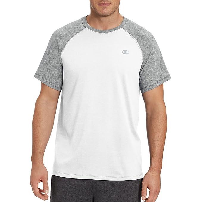 6af58be8bf41 Amazon.com: Champion Vapor Cotton Men's Tee_White/Oxford Grey_S ...