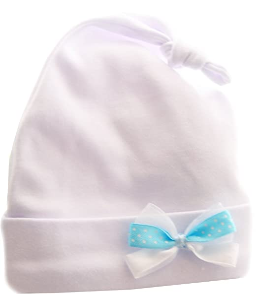 Babymütze Zipfelmütze Mütze Knotenmütze Mützchen Erstlingsmütze 50 56 62 Weiß