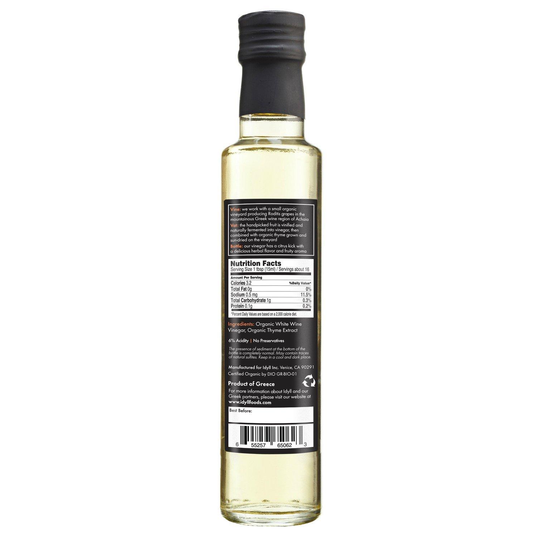 Idyll Organic Thyme Vinegar from Greece, 8.5 oz