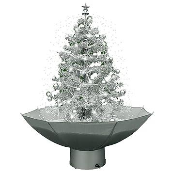 Tannenbaum Mit Schneefall.Jemidi Weihnachtsbaum Mit Schneefall 75cm Schneiender Tannenbaum Christbaum Schnee Selbstschneiend Silber