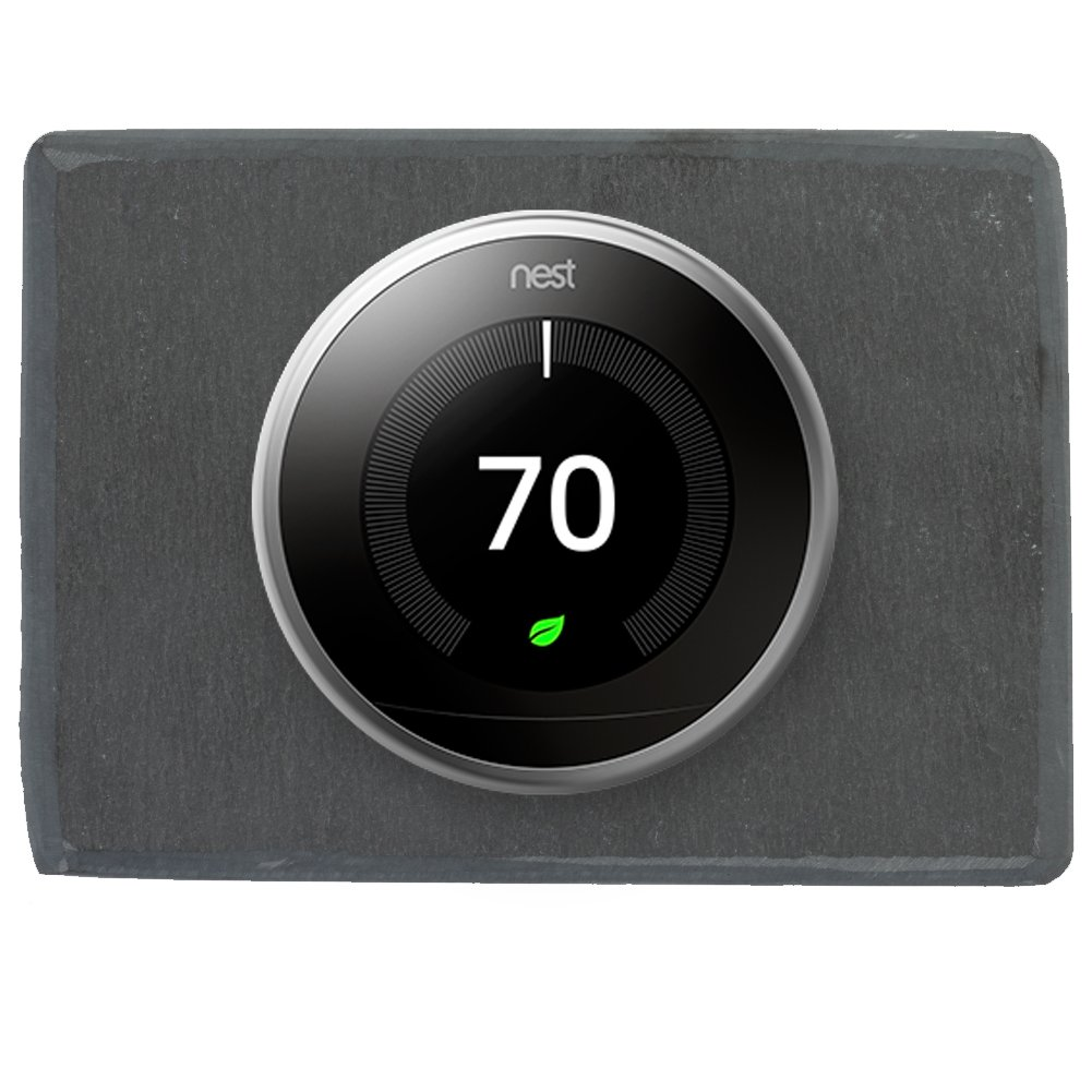 Koyal Wholesale Thermostat Trim Plate for Nest, Wall Plate (Rectangle 6'' x 4.33'', Slate Rock) by Koyal Wholesale (Image #7)