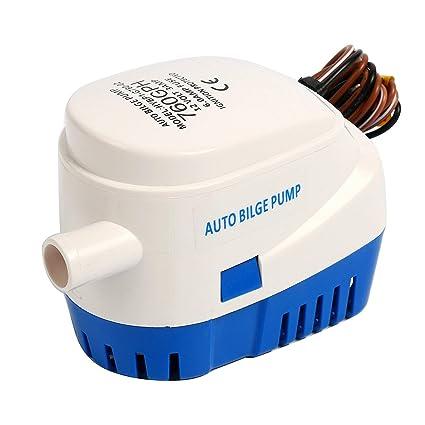 FreeTec Bomba de Agua de sentina para Barco Sumergible automática Auto con Interruptor de Flotador (