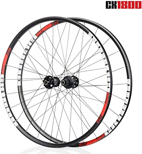 TianyiTrade 700C Ruedas de Bicicleta Carretera Aluminio Pared Doble Llanta Freno de Disco Hub Wheel para 8/9/10/11s Cassette (19 CX1800): Amazon.es: Deportes y aire libre