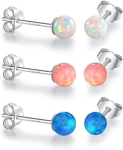 Women/'s Opal Sparkling White Stud Earring Jewelry Earrings