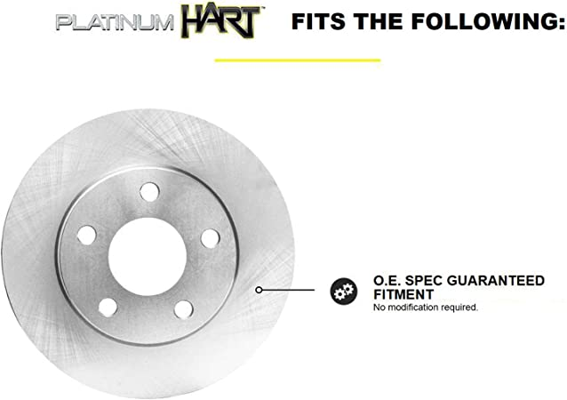 Fit 2014-2017 Subaru Forester Rear PSport Blank Brake Rotors+Ceramic Brake Pads